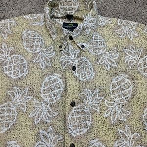 Hawaiian Pineapple Newport Blue dress shirt